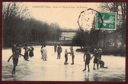 Liancourt Ecole De L'Ile-de-France Le Patinage Sport D' Hiver  OISE 60140 * Patin à Glace Sur Lac Gelé Amusement Détente - Liancourt