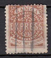 SAMOA.  Nr. 18 (6) Used. 2 Shillings, 1877. No Price. 2 Tiny Spots. - Samoa