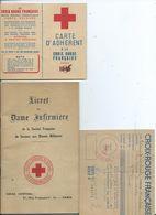 LIVRET DE DAME INFIRMIERE - Documents Historiques