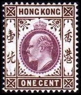 1903. HONG KONG. Edward VII ONE CENT. Hinged. (Michel 61) - JF364472 - Hong Kong (...-1997)