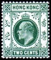 1903. HONG KONG. Edward VII TWO CENTS. Hinged. (Michel 62) - JF364473 - Hong Kong (...-1997)
