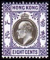 1903. HONG KONG. Edward VII EIGHT CENTS. Hinged. (Michel 65) - JF364475 - Hong Kong (...-1997)