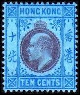 1903. HONG KONG. Edward VII TEN CENTS. Hinged. (Michel 66) - JF364476 - Hong Kong (...-1997)