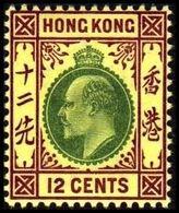 1903. HONG KONG. Edward VII 12 CENTS. Hinged. (Michel 67) - JF364477 - Hong Kong (...-1997)