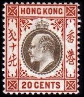 1903. HONG KONG. Edward VII 20 CENTS. Hinged. (Michel 68) - JF364478 - Hong Kong (...-1997)