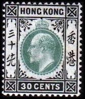 1903. HONG KONG. Edward VII 30 CENTS. Hinged. (Michel 69) - JF364480 - Hong Kong (...-1997)