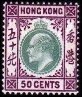 1903. HONG KONG. Edward VII 50 CENTS. Hinged. (Michel 70) - JF364481 - Hong Kong (...-1997)
