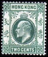 1904-1907. HONG KONG. Edward VII TWO CENTS. Hinged. (Michel 76) - JF364482 - Hong Kong (...-1997)