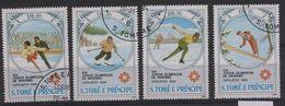 JO84-H10 - SAO TOME & PRINCE Série De 4 Val. Obl. Jeux Olympiques D'hiver 1984 - Sao Tome En Principe