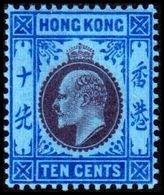1904-1907. HONG KONG. Edward VII TEN CENTS. Hinged. (Michel 81) - JF364488 - Hong Kong (...-1997)