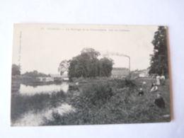 A Vendre Carte Ancienne De Noisiel Le Barrage Et La Chocolaterie, Vus Du Château   Petit Prix - Noisiel