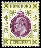 1904-1907. HONG KONG. Edward VII ONE DOLLAR. Hinged. (Michel 85) - JF364493 - Hong Kong (...-1997)