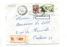 Lettre Recommandée Saint Sauveur Lendelin Sur Coq Carnac - Poststempel (Briefe)