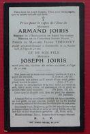 ANDENNE - BONNEVILLE - Faire-part De Décès Accidentel D'Armand Et Joseph JOIRIS - 19 Juillet 1915 - Décès