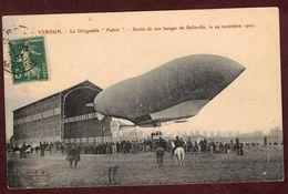 """VERDUN Le Dirigeable Militaire  """" Patrie """" Zeppelin Aérostat Sortie De Son Hangar De Belleville En 1907 * MEUSE 55100 * - Dirigeables"""