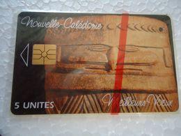 NEW CALEDONIA  MINT CARDS  WOOD ART  TIR 5.000  RARE 2 PHOTO - Nouvelle-Calédonie