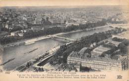 75 - PARIS - Panorama De PARIS - Vue Sur Les Quartiers De L'Etoile Et Des Champs-Elyses Prise De La Tour Eiffel. - France