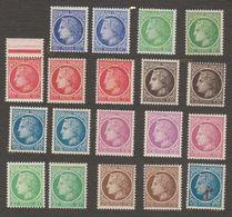 Année 1945 NEUF ** 674 A 681 ** Ceres Mazelin. Variétés Descriptions Ci Dessous - France