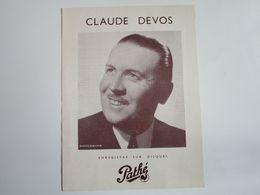 Claude DEVOS - Disques PATHE - Ses Derniers Succès - Musica & Strumenti