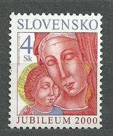 Slovakia, 2000 (#388a), Christmas, Holy Year, Jubilee, Madonna, Child Jesus, Heiliges Jahr, Jubiläum, Unsere Liebe Frau - Quadri