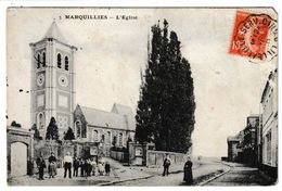 Nord MARQUILLIES L'église (animation) - France