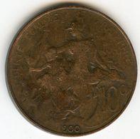 France 10 Centimes 1900 GAD 277 KM 843 - D. 10 Centimes