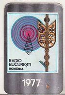 Romanian Small Calendar - 1977 - Radio Romania Bucharest - Calendars