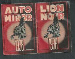 """Calendrier 1938 Auto Miror """" Les Produits Lion Noir"""", Format 5cm X 8cm - Kalender"""
