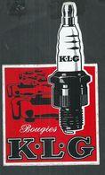 Autocollant Bougies KLG Pour Automobiles ; 20cm X 12cm - Voitures
