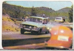 Romanian Small Calendar - 1985 - Dacia 1300 Rally Car - Petit Format : 1981-90