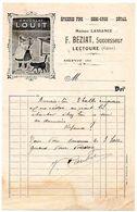 Gers / Correspondance Illustrée, Publicité CHOCOLAT LOUIT, Epicerie F. BEZIAT à LECTOURE, Successeur Maison LASSANCE. - Alimentaire