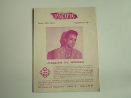 Jacques DE MERSAN - Disques PACIFIC  - Suppléments N°3-Saison 1951-52 - Les Derniers Disques Parus (dépliant 4 Volets) - Musique & Instruments