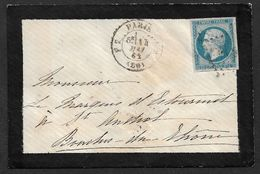 1862 LSC - 20C EMPIRE PARIS A ST ANDIOL (Bouches Du Rhone) - Lettre De Deuil - 1849-1876: Classic Period