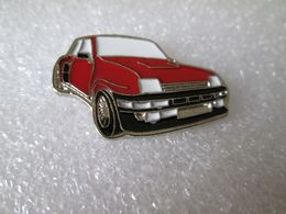 PIN'S   RENAULT  5  TURBO  ROUGE  Email A Froid - Renault