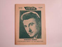 Domingo RAMON - Disques PACIFIC  - Supplément N°1 Saison 1955-1956 - Les Derniers Disques Parus (Dépliant 4 Volets) - Musica & Strumenti