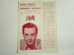 Georges GUETARY - Disques PATHE - Parmi Ses Meilleurs Disques...... - Musica & Strumenti