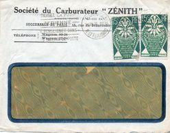V7S Enveloppe Timbrée Exposition Paris 1925 Courrier Lettre Paris Société Du Carburateur Zénith - Poststempel (Briefe)