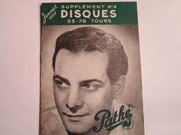 Georges GUETARY - Disques PATHE - Supplément N°4 De Janvier 1952 - Les Derniers Disques Parus (12 Pages) - Musica & Strumenti