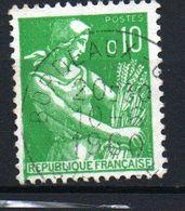 10c Type Moissonneuse - N° 1231 Obl - Frankreich