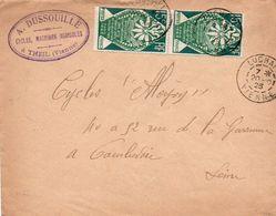 V7S Enveloppe Timbrée Exposition Paris 1925 Courrier Lettre 86 Theil Cycles Machines Agricoles A. Dussouille - Poststempel (Briefe)