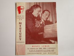 Renée LEBAS - Disques MERCURY - Supplément N°4 Janvier 1952 - Les Derniers Disques Parus - Musica & Strumenti
