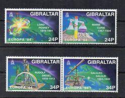 Gibilterra - 1994 - Europa CEPT - L' Europa E Le Scoperte - 4 Valori - Nuovi ** - (FDC22897) - 1994