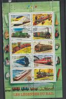 France. 2001. Feuillet Trains. Locomotives. Oblitération 2003 - Frankreich