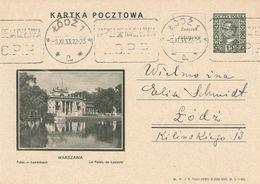 Pologne Entier Postal Illustré 1933 - Stamped Stationery