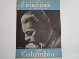 Herbert Von KARAJAN - Disques COLUMBIA - Supplément N°4 Janvier 1952 - Les Derniers Disques Parus (12 Pages) - Musica & Strumenti