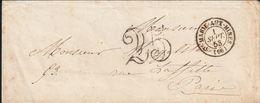 France Alsace Lettre Taxe 25 Ste Marie Aux Mines 1853 - Marcofilia (sobres)