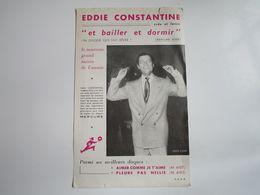 Eddie CONSTANTINE - Disques MERCURE - Parmi Ses Dernières Créations - Musica & Strumenti