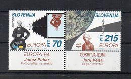 Slovenia - 1994 - Europa CEPT - L' Europa E Le Scoperte - 2 Valori  Con Appendice - Nuovi ** - (FDC22900) - 1994