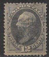 US  1870  Sc#151  12c Used  2016 Scott Value $220 - 1847-99 General Issues