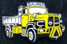CAMION SAURER JAUNE - EGF - YELLOW TRUCK - CAMION GIALLO - GELBER LFW - CAMION AMARILLO -  (26) - Transportes